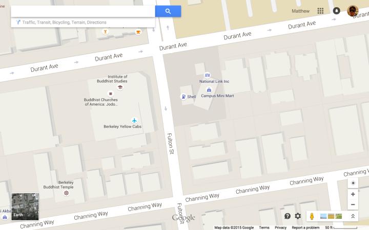 Berkeley - Durant & Fulton Area - 50 ft g-scale