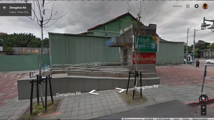 Exit Y28 (south side of Zhengzhou street).