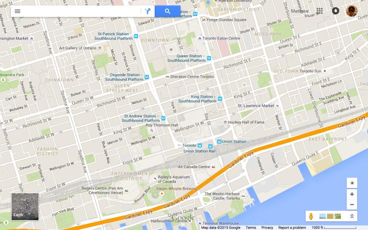 Toronto - Scale 1000 ft