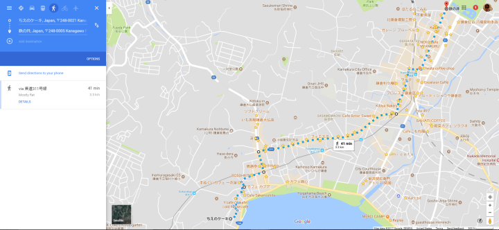 Kamakura 41 minute walk map