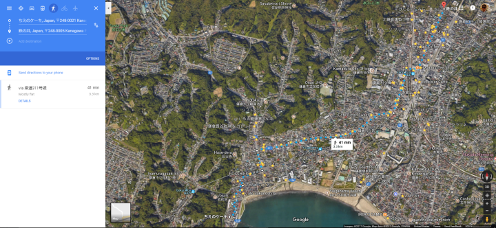 Kamakura 41 minute walk satellite