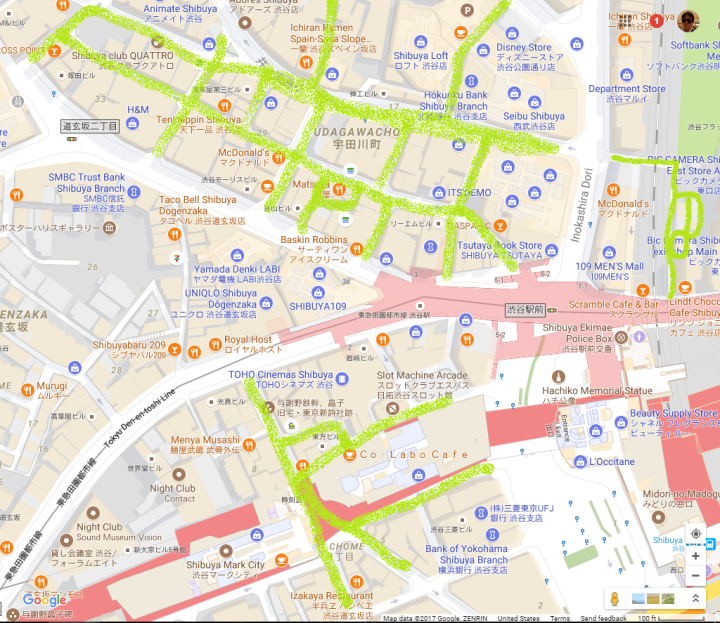 Shibuya West Side Area Map
