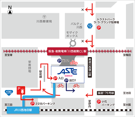Aste access map